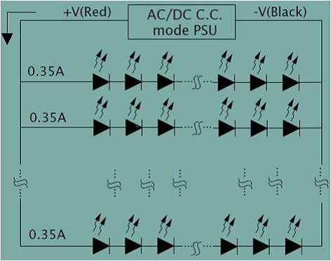 Constant current LED wiring diagram