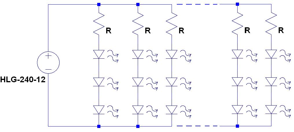 Simple constant voltage LED strip design