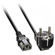 Power Cord EUR Mains Plug to IEC Plug 1.5mtrs
