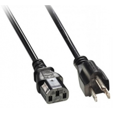 Power Cord USA Mains Plug to IEC Plug 1.5mtrs